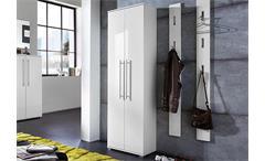 Garderobenschrank Inside Dielenschrank Schrank weiß Hochglanz Tiefzieh Germania