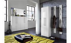 Garderobenpaneel Inside Kleiderhaken Paneel in weiß Hochglanz Tiefzieh Germania