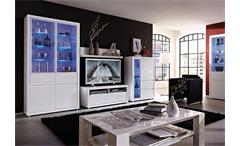 Lowboard 2 Fino TV Board HiFi Möbel Unterschrank weiß Hochglanz Lack Germania