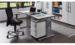 Schreibtisch 0650 PROFI Bürotisch grau höhenverstellbar 70-80 Germania