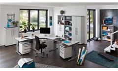 Aktenregal 0661 Profi Büroregal Regal Büromöbel in grau von Germania 80x199 cm