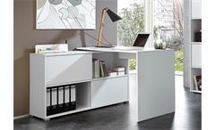 Schreibtisch Shine Arbeitstisch Bürotisch Tisch weiß Sonoma Eiche Germania