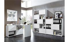 Büro Set Slide Büroprogramm Büromöbel weiß Sonoma Eiche 3 teilig Germania