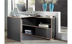 Schreibtisch Shine Arbeitstisch Bürotisch Tisch anthrazit Sonoma Eiche Germania