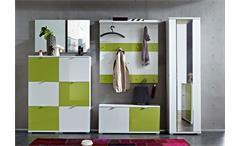 Garderobe Colorado GERMANIA Set in weiß grün Flur- und Dielenmöbel