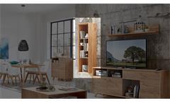 Hängeregal Calvi Regal Bücherregal in Navarra Eiche und Steingrau von Germania