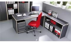 Eck-Schreibtisch Duo 2 Bürotisch Computertisch anthrazit Rosales von Germania