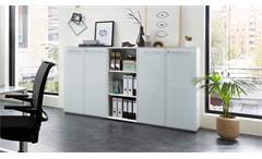 Aktenregal 4203 Monteria Büroregal Regal Büromöbel Office weiß Opti-White Glas