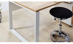 Schreibtisch 4157 Bürotisch Arbeitstisch Lioni in Weiß Navarra-Eiche Dekor 158cm