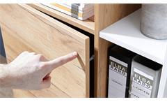 Aktenschrank 4195 Schrank Lioni Büroschrank in Weiß Navarra-Eiche Dekor 85x40 cm