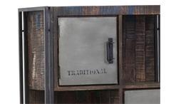 Highboard Schrank Titan 7394 Metallrahmen antik lackiert und Mango Massivholz