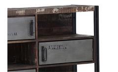 Sideboard Anrichte Titan 7396 Metallrahmen antik lackiert und Mango Massivholz