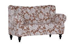 Speisesofa NEW BAROCK Webstoff beige creme Sitzhöhe 50 cm