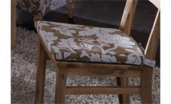 Sitzkissen TUNIS Kissen in Webstoff beige und Creme
