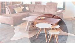 Beistelltisch Retro 3er Tischset 50iger Jahre Eiche massiv Platte weiß lackiert