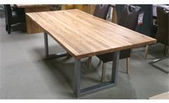 Esstisch Teck Esszimmer Küche Tisch Wildeiche massiv geölt 200x100 cm