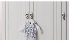 Kleiderschrank Ronja Schrank Drehtürenschrank in Kiefer weiß massiv Babyzimmer