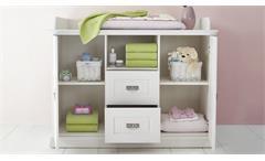 Wickelkommode Odette Wickeltisch Babyzimmer in Kiefer massiv weiß