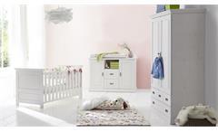 Babyzimmer Odette Set 3-teilig Holz Kiefer massiv weiß