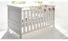 Babyzimmer Odette Set Kiefer massiv Gitterbett Schrank Wickelkommode Babymöbel