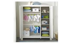 Kleiderschrank Emma Schrank Drehtürenschrank Babyzimmer in Kiefer massiv weiß