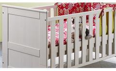 Babybett Emma Gitterbett Kinderbett Babyzimmer in Kiefer massiv weiß Babymöbel