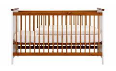 Babybett Giulia Gitterbett Kinderbett Babyzimmer Kiefer weiß massiv honigfarben