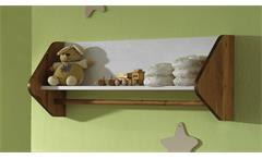 Wandregal GIULIA Wandboard in Kiefer weiß massiv und honigfarben Babyzimmer