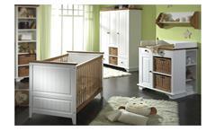 Babyzimmer Giulia Gitterbett Wickelkommode Schrank Kiefer massiv honig Babymöbel