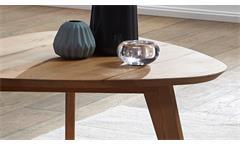 Couchtisch Olpe1 Beistelltisch Tisch Wildeiche massiv geölt dreieckig 95x104 cm