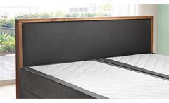 Boxspringbett Guana Doppelbett in grau Wildeiche massiv 7-Zonen-TFK 180x200 cm