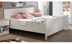 Bett Genia Bettgestell Doppelbett in Kiefer massiv weiß 180x200 cm Landhausstil