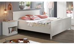 Bettanlage Genia Kiefer massiv weiß gewachst 2 Nachttische 180x200 Landhausstil