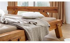 Balkenbett Genji Doppelbett Bett Futonbett in Wildbuche massiv geölt 180x200 cm