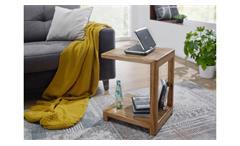 Laptoptisch KM-0240 Beistelltisch Tisch Wohnzimmer Wildeiche massiv geölt 40x52