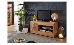 TV-Board 1 Gaja Lowboard TV-Schrank Wildeiche massiv natur geölt mit Hirnholz
