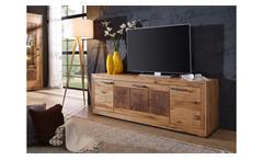 TV-Board 3 Gaja Lowboard TV-Schrank Wildeiche massiv natur geölt mit Hirnholz