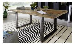 Esstisch Mangoholz lackiert Esszimmer Tisch rustikal Eisen anthrazit 180x90 cm