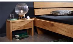Nachtkommode Wildeiche Nachttisch Grove Massivholz geölt Schubkasten Softclose