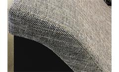 Ecksofa Philip Wohnlandschaft Couch Sofa mit Ottomane rechts schwarz Stoff grau