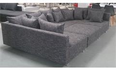 Wohnlandschaft Claudia XXL Ecksofa Couch Sofa mit Hocker Webstoff Lawa 17
