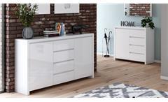 Sideboard 1 Lario Anrichte Kommode Schrank Wohnzimmer in weiß Hochglanz Lack