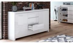 Sideboard 2 Lario Kommode Anrichte Schrank Wohnzimmer in weiß Hochglanz lackiert