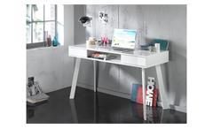 Laptoptisch 6235 Schreibtisch Computertisch Schminktisch in weiß Hochglanz Lack