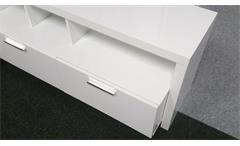 Lowboard MEDIABANK  TV- Board Hochglanz weiß lackiert 3 Schubkästen