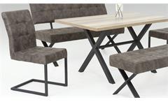 Essgruppe Bonny Wildeiche Stuhlset Bänke Denna Vintage Tischgruppe Sitzgruppe