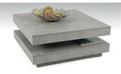Couchtisch Ben in Betonoptik Tisch 360° drehbar Beistelltisch Wohnzimmertisch