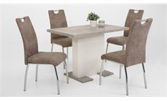 Stuhl 4er Set Susi 2 Esszimmerstuhl Küchenstuhl Kufenstuhl in Vintage beige