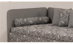 Polsterliege Sentino Stoff grau mit Bonell-Federkern inkl. Bettkasten 90x200 cm