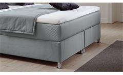 Box-Komfortbett Diamond Polsterbett Doppelbett Stoff grau Bettkasten 180x200 cm